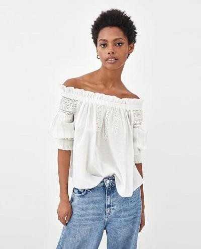 blouse col bardot