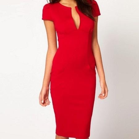 robe crayon rouge